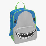 Child`s Backpack Shark Design on a white. 3D illustration Royalty Free Stock Images