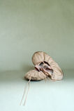 Child's ballet shoes. A still life featuring a child's ballet shoes royalty free stock photos