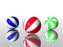 Child's balls. Varicoloured child's balls for games outdoor Royalty Free Stock Photo