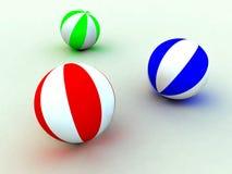 Child's balls. Varicoloured child's balls for games Royalty Free Stock Images