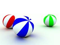 Child's balls. Varicoloured child's balls for games Stock Photos