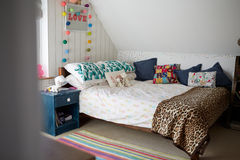 Child's Bedroom In Contemporary Family Home Royalty Free Stock Photography