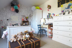 Child's Bedroom In Contemporary Family Home Stock Photo