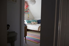 Child's Bedroom In Contemporary Family Home Through Door Stock Images