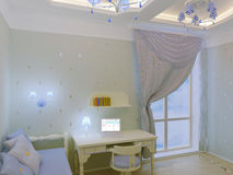 Child`s bedroom interior Royalty Free Stock Image