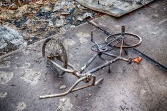 Child`s Bicycle Destroyed By Gatlinburg Forest Fire Stock Image