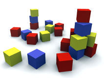 Child's blocks Stock Images