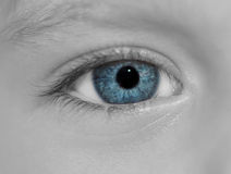 Child's blue eye. Royalty Free Stock Photo