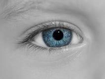 Child's blue eye. Royalty Free Stock Photo
