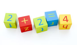 Child's building blocks royalty free stock photos