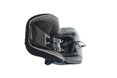 Child's car seat isolated on a white background Royalty Free Stock Image