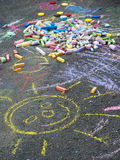 Child's chalk drawing