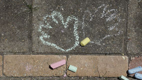 Child's Chalk Drawing Stock Image
