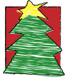 Child's christmas - Christmas tree royalty free illustration