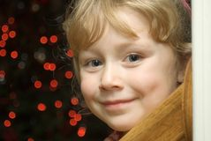 Child's Christmas Happiness Royalty Free Stock Photo