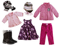 Child's clothes isolated on white. Royalty Free Stock Photo