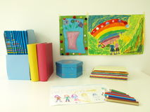 Child's desk Stock Images