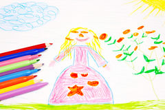 Child's drawing Stock Photos