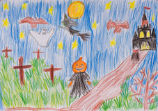 Child's drawing Royalty Free Stock Photography