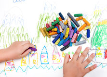 Child's drawing Royalty Free Stock Image