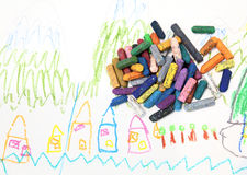 Child's drawing Stock Image