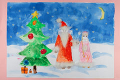 Child's drawing. Royalty Free Stock Images