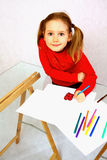 Child's drawing Stock Images
