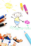 Child S Drawing Royalty Free Stock Photography