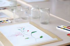 A child's drawing Stock Photography