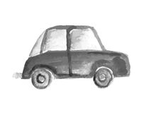 Child's drawing car. Vector illustration. Royalty Free Stock Images