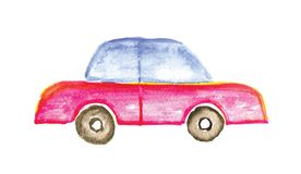 Child's drawing car. Vector illustration. Stock Image