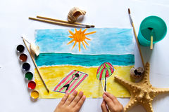 A child`s drawing Royalty Free Stock Photo