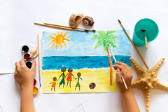 A child`s drawing Royalty Free Stock Photography