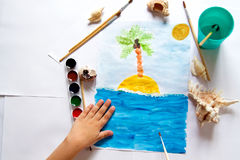 A child`s drawing Royalty Free Stock Images