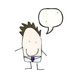 Child's drawing of a dad with speech bubble cartoon Royalty Free Stock Images
