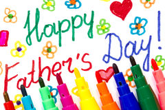 Child's drawing for Father's day Royalty Free Stock Photography