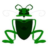 Child s drawing of a mantis or grasshopper. Vector graphics. Hand drawing stock photo
