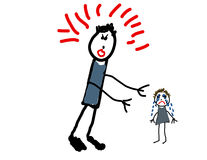 Free Child S Drawing Of Abuse Stock Images - 5771254