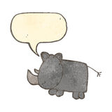 child's drawing of a rhinoceros Royalty Free Stock Photography