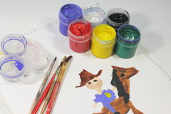 Child's drawing Royalty Free Stock Images