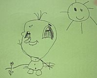 Childs drawing Royalty Free Stock Photo