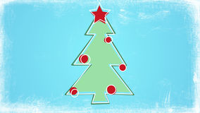 Child's drawing style christmas tree Stock Image