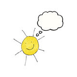 child's drawing of sunny weather Royalty Free Stock Photography