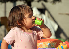 Child's drink Stock Photography