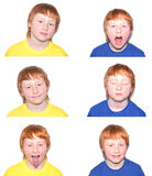 Child's emotions Royalty Free Stock Images