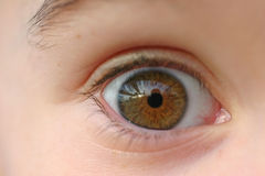 Child's Eye Stock Photo