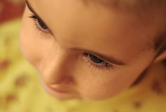 Child's eyelashes close-up Royalty Free Stock Image