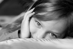 Child's eyes. Closeup of a beautiful little girl Royalty Free Stock Photo