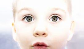 Child`s eyes stock photo
