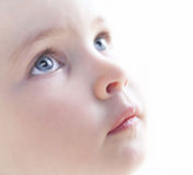 Child's face close up Royalty Free Stock Image